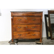 Late 19th Century Black Marble Top Chest of Drawers/ Commode