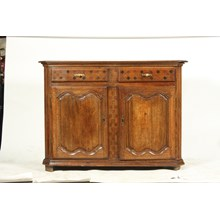 18th Century French Country-Style Buffet With Inlay Drawers