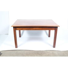 1940s Scandinavian Beech Dining Table Featuring Deco Reeding On The Legs
