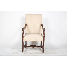 19th Century Louis XIV Cream Arm Chair