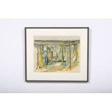 Mid-C. Abstract Interior Lithograph by Emil Gregersen
