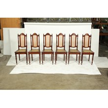 Set of 6 Cane Dining Chairs