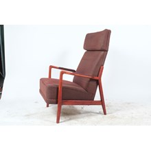 Mid-C. Plaid Folke Ohlsson Lounge Chair for Duxello