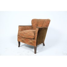 Mid-Century Barrel Back Lounge Chair