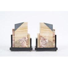 Pair of Stone Bookends/Decor