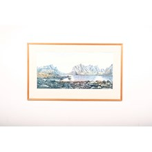 Seriagraph of Mountains by the Lake 1992 by Ole Strand