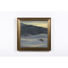 """Cottages Among The Snow Drifts"" Winter Landscape"