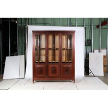 Early 20th Century Empire Style Glass Door Display Cabinet