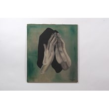 1966 Surrealist Hands Oil on Canvas by Stephen Rostrup
