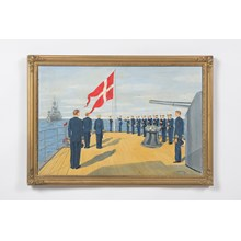 """Color Guard on the Niels Juel"" Danish Sailors by Gander"