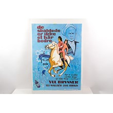 "1972 ""Romance of a Horse Thief"" Original Danish Movie Poster Featuring Yule Brenner and Jane Birkin"