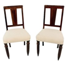 1940s English Side Chairs, Pair