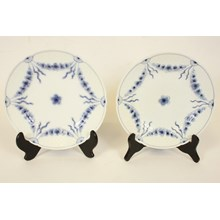 B&G Blue Empire Plate, Pair