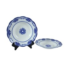 Flow Blue Lorne Soup Bowl, Pair