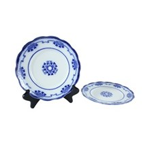 Flow Blue Lorne Salad Plate, Pair
