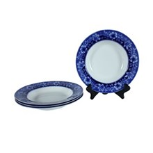 Flow Blue Turin by JB Salad Plate, S/4