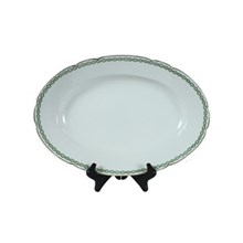 French Limoges 15' Oval Serving Bowl