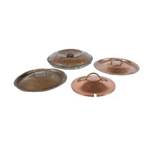 Antique Copper Lids, Set of 4