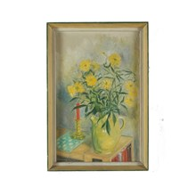 1960 Oil Painting 'Yellow Dasies'