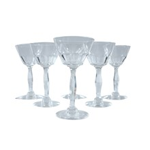 French Petite Cordial Glasses, Set of 6