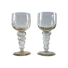 French Wine Goblets, Pair