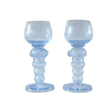 Roemer Style Goblets, Pair