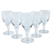 Etched Dessert Wine Glasses, S/5
