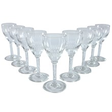 Cordial Glasses, Set of 9