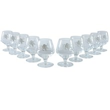 French Cognac Glasses, set of 10