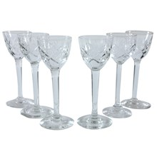 Long Stemmed Sherry Glasses, Set of 6