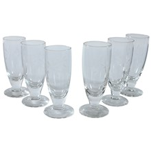 Etched Highball Glasses, Set of 6
