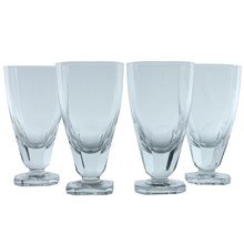 Heavy Footed Sherry Glasses, Set of 4