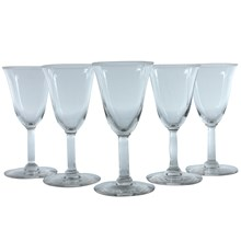French Cordial Glasses, Set of 5