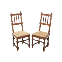 French Farm Chairs, Pair