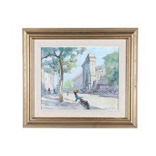 """A Trip to Paris"" Impressionist Cityscape by Knut Norman"