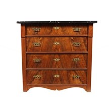 19th-C. Renissance-Style Walnut Chest