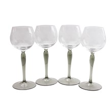 French Etched Stemware, S/4