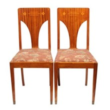1930s Art Deco Jugend Chairs, Pair