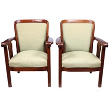 1920s Jugendstil-Style Armchairs, Pair