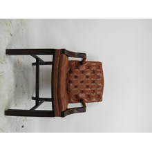 1970s Chippendale Leather Armchair