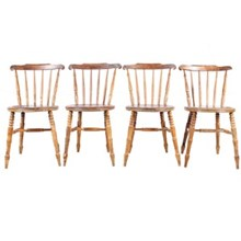 1940s English Country Dining Chairs, S/4